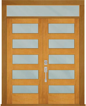 5 Lite Pair SDS with Transom  sc 1 th 248 & Door Express Seattle | Seattle WA Wood doors french doors panel ... pezcame.com